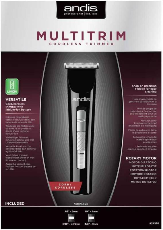 Машинка для стрижки Andis MultiTrim CLT черный (24570) - фото 3