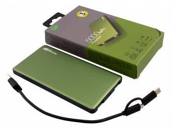 Мобильный аккумулятор GP Portable PowerBank MP05 зеленый (MP05MAG)