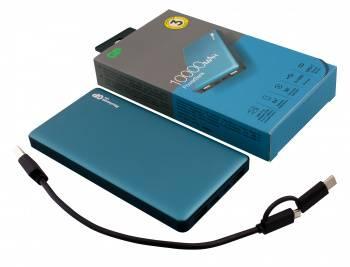 Мобильный аккумулятор GP Portable PowerBank MP10 синий (MP10MAT)