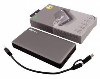 Мобильный аккумулятор GP Portable PowerBank MP15 серый (MP15MAGR)