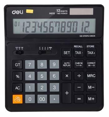 Калькулятор бухгалтерский Deli EM01020 черный