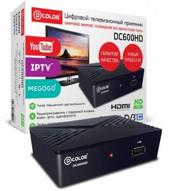 Ресивер DVB-T2 D-Color DC600HD