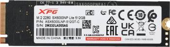 Накопитель SSD 512Gb A-Data XPG SX6000 Lite ASX6000LNP-512GT-C PCI-E x4