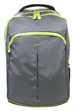 Рюкзак Silwerhof Power серый/зеленый неоновый (830844)