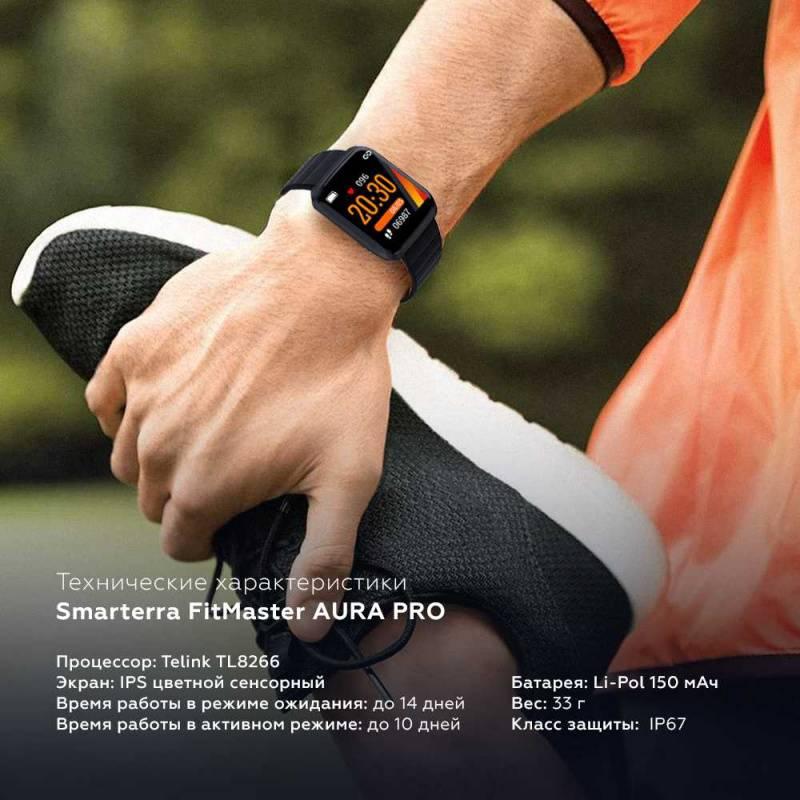 Смарт-часы SMARTERRA FitMaster Aura Pro титан (FMAUPROGR) - фото 6
