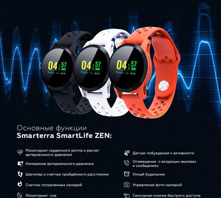 Смарт-часы SMARTERRA Zen белый (SMZWT) - фото 8