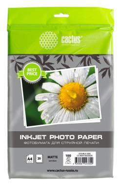 Фотобумага Cactus CS-MA410020EDS A4 100г/м2 20л.