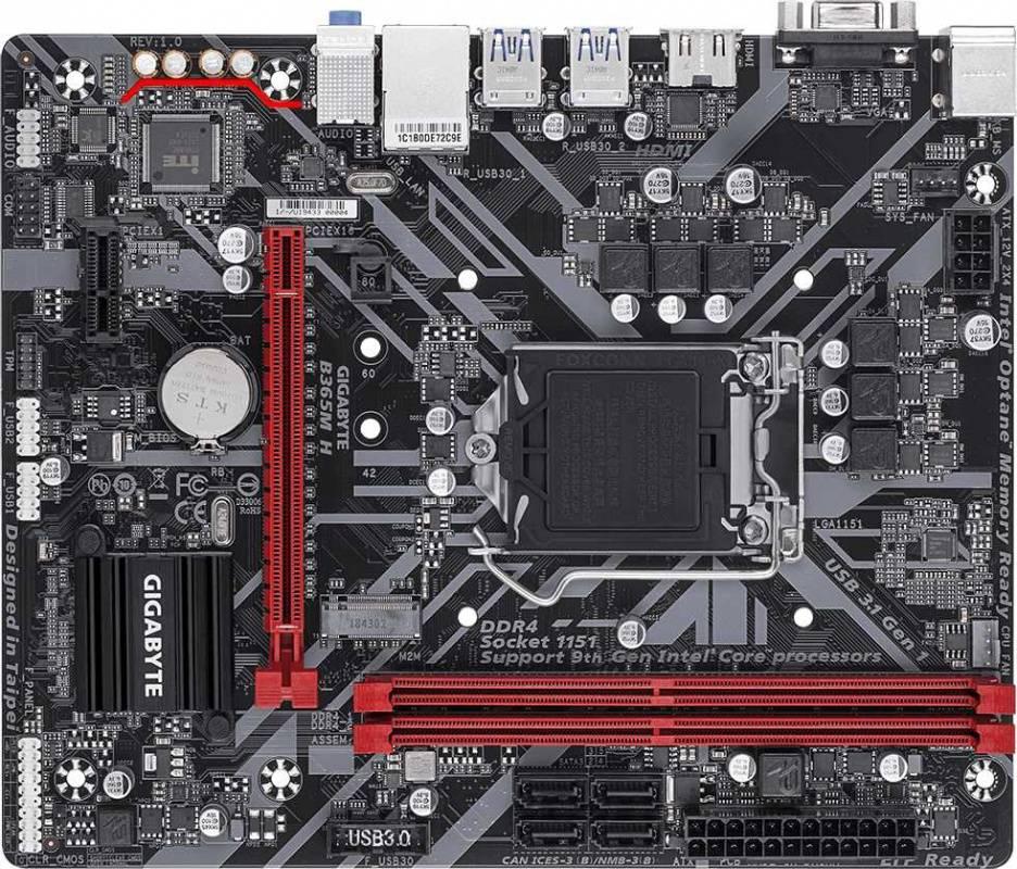Материнская плата Gigabyte B365M H Soc-1151v2 mATX - фото 1