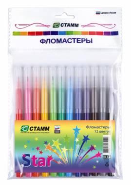 Фломастеры Стамм Star 12цв. (ФЛ504)