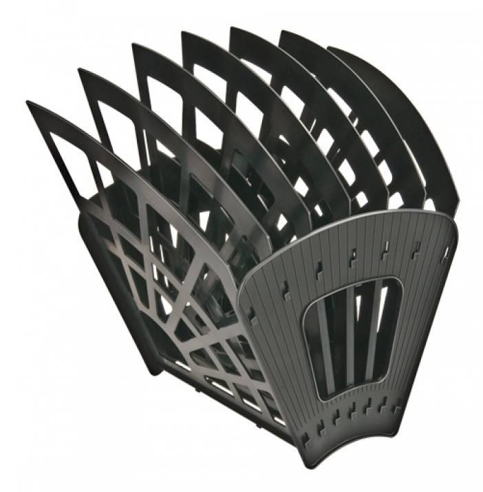 Лоток вертикальный Стамм Веер Эконом черный (ЛТ418) - фото 1