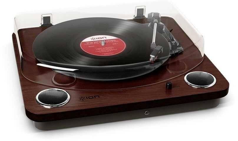 Виниловый проигрыватель ION Audio Max LP коричневый - фото 2