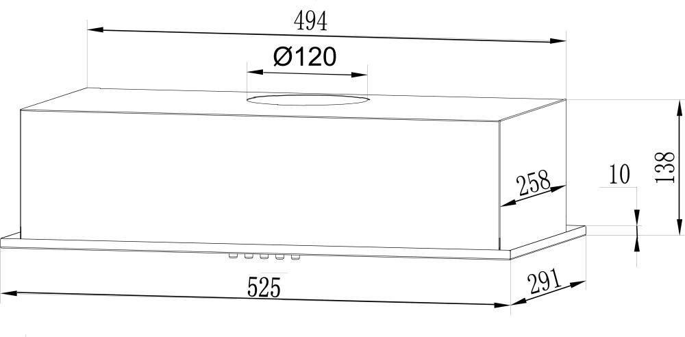 Встраиваемая вытяжка Lex GS Bloc LIGHT 600 INOX нержавеющая сталь (CHTI000328) - фото 2