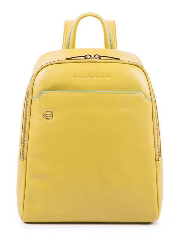 Рюкзак женский Piquadro Blue Square желтый, кожа натуральная (CA4233B2/G5) - фото 1