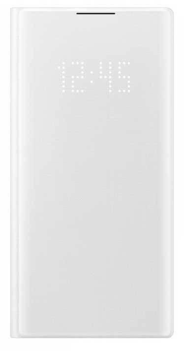 Чехол Samsung LED View Cover, для Samsung Galaxy Note 10, белый (EF-NN970PWEGRU) - фото 1