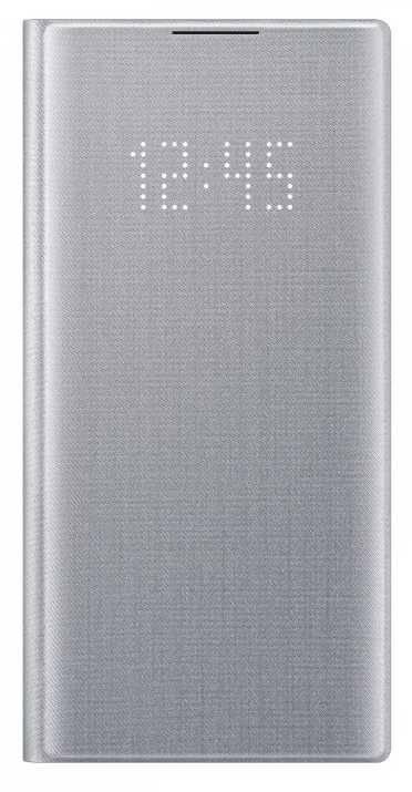 Чехол Samsung LED View Cover, для Samsung Galaxy Note 10, серебристый (EF-NN970PSEGRU) - фото 1