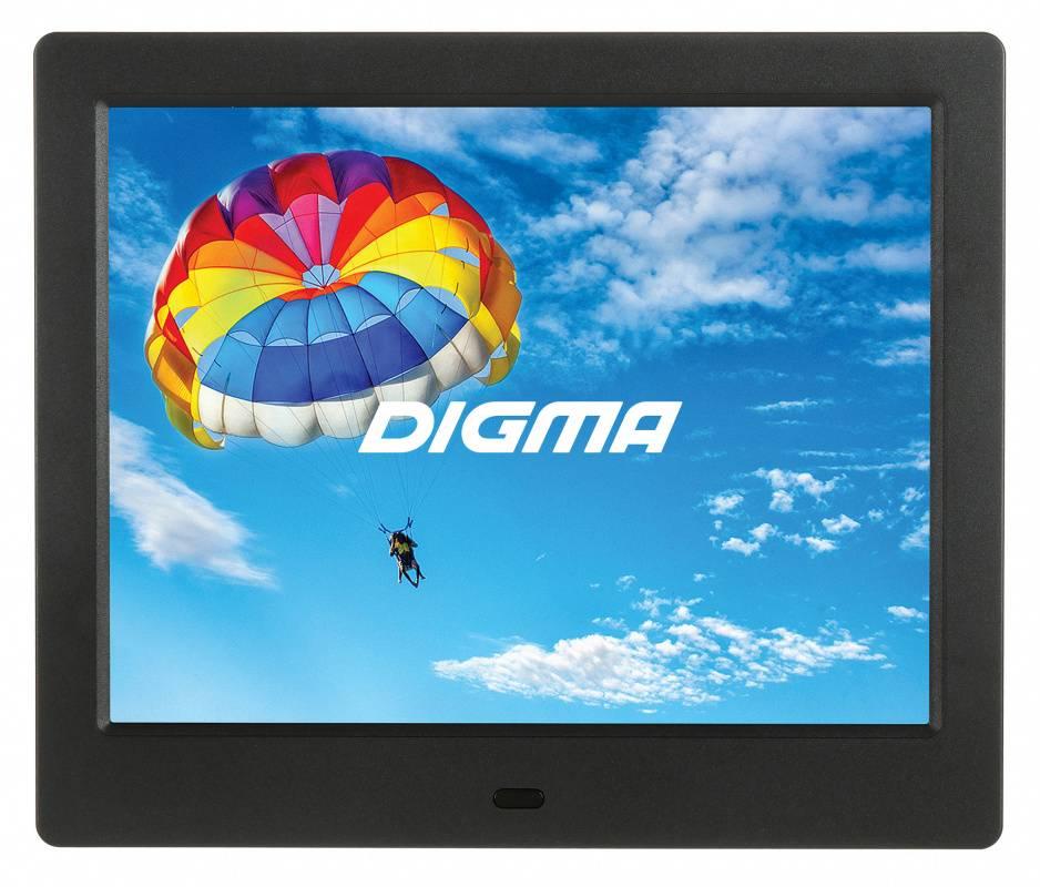"Цифровая фоторамка 8"" Digma PF-843 IPS черный (PF843BK) - фото 1"