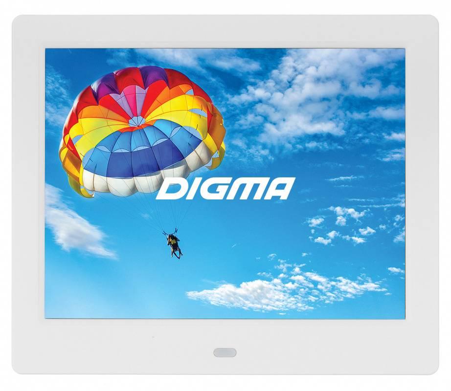 "Цифровая фоторамка 8"" Digma PF-843 IPS белый (PF843W) - фото 1"