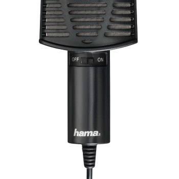 Микрофон проводной Hama 00139906 2м черный (плохая упаковка)