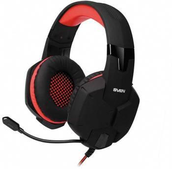 Наушники с микрофоном Sven AP-G988MV черный/красный