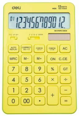 Калькулятор настольный Deli Touch EM01551 желтый