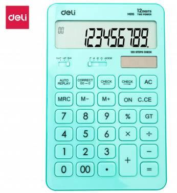 Калькулятор настольный Deli Touch EM01531 голубой