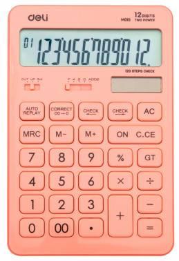 Калькулятор настольный Deli Touch EM01541 красный