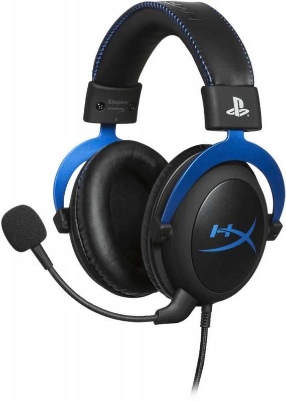 Наушники с микрофоном HyperX Cloud Blue for PS4 черный/голубой (HX-HSCLS-BL/EM) - фото 1