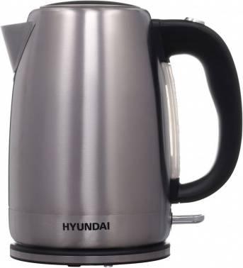 Чайник электрический Hyundai HYK-S2030 серебристый матовый/черный