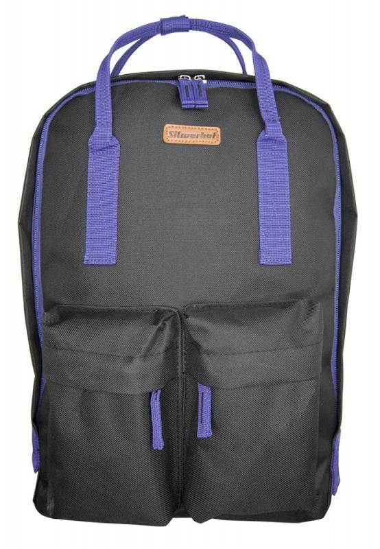 Рюкзак Silwerhof Cube черный/фиолетовый (830841) - фото 1