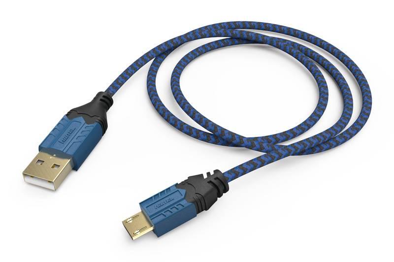 Зарядный кабель Hama High Quality черный/синий (00054473) - фото 1