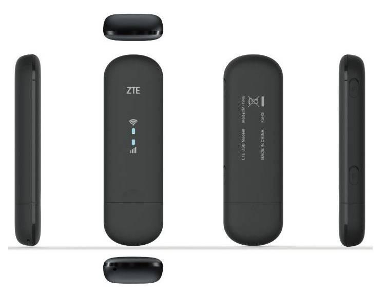 Купить Модем 2G/3G/4G ZTE MF79RU USB черный в интернет-магазине Позитроника по низкой цене в Петрозаводске