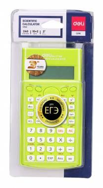 Калькулятор научный Deli E1710A/GRN зеленый