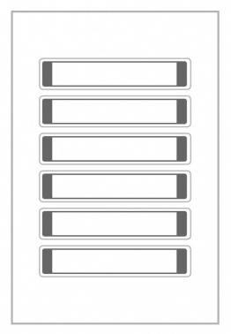 Этикетки Living 62032 A4 1г/м2 2л. белый