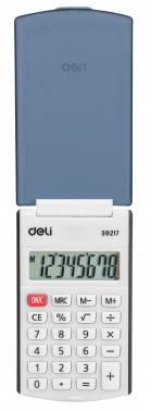 Калькулятор карманный Deli E39217/BLACK черный