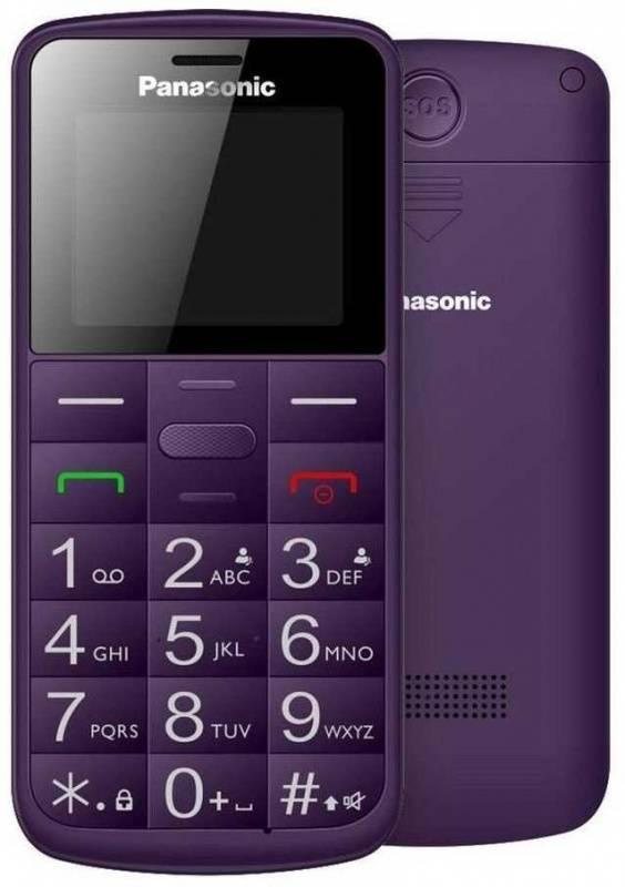 Мобильный телефон Panasonic TU110 фиолетовый (KX-TU110RUV) - фото 1