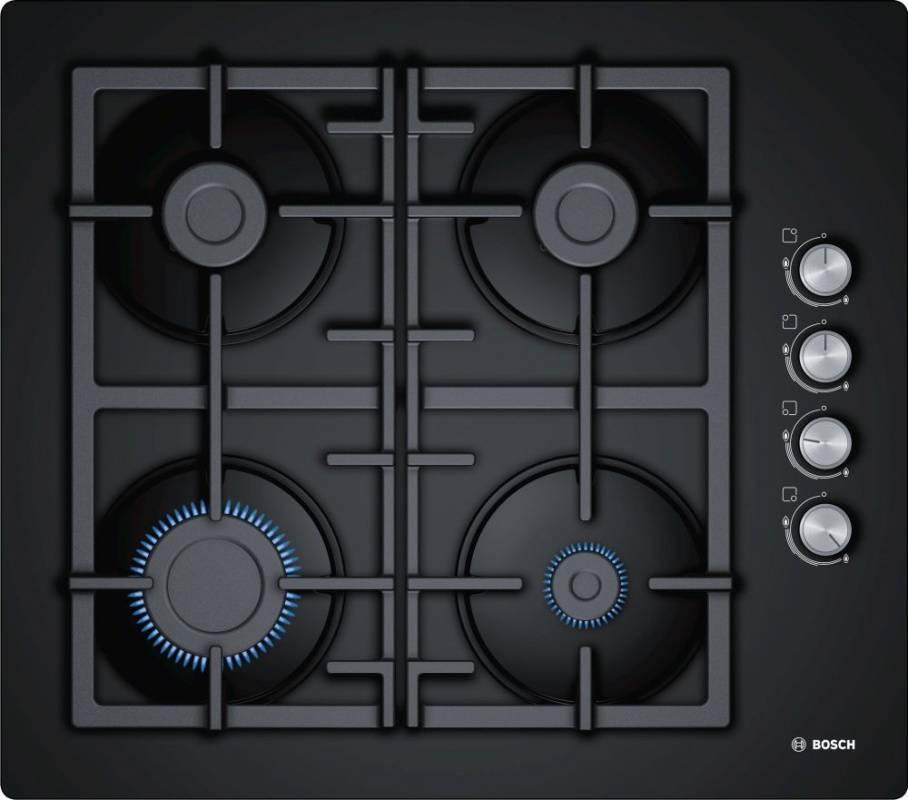 Газовая варочная поверхность Bosch POP6C6O90R черный - фото 1