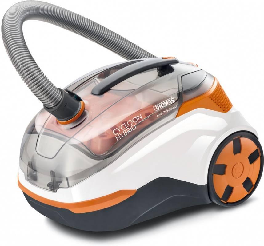 Пылесос Thomas Cycloon Hybrid Pet & Friends белый/оранжевый (786550) - фото 1