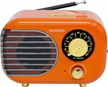Радиоприемник Telefunken TF-1682UB оранжевый/золотистый (tf-1682ub(оранжевый с золотым))