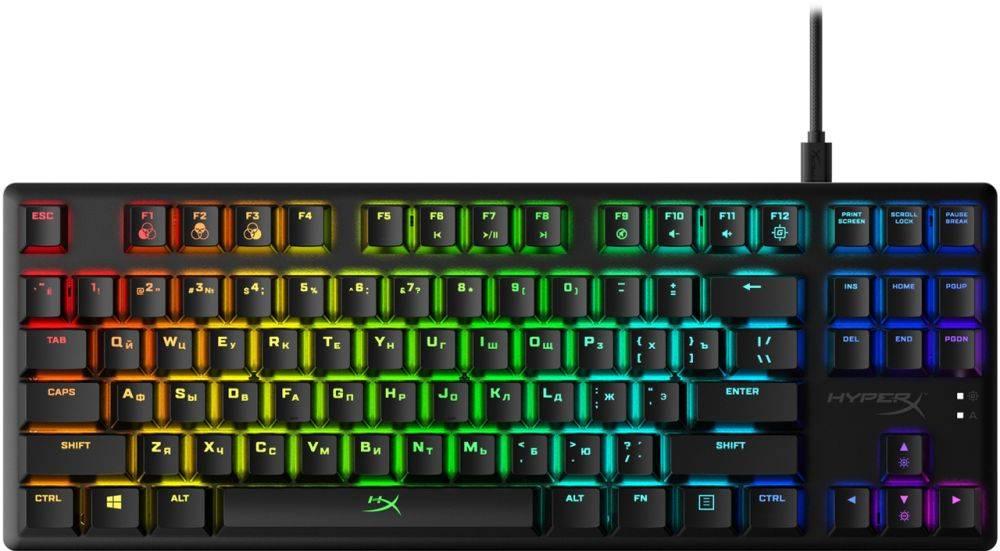 Клавиатура HyperX Alloy Origins Core Tenkeyless черный (HX-KB7RDX-RU) - фото 1