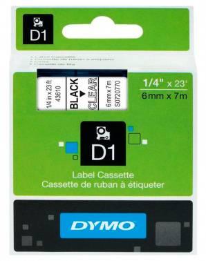 Картридж Dymo D1 черный/прозрачный (s0720770)