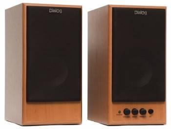 Акустическая система 2.0 Dialog W-204 коричневый / вишня