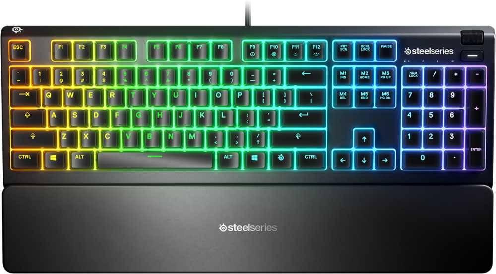 Клавиатура Steelseries Apex 3 RU черный (64805) - фото 1