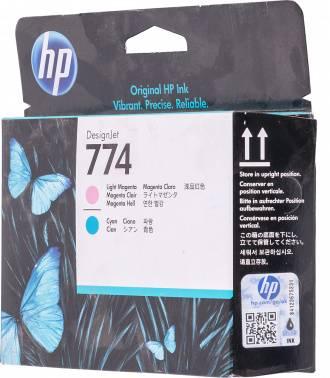 Картридж HP 774 светло-пурпурный/светло-голубой (p2v98a)