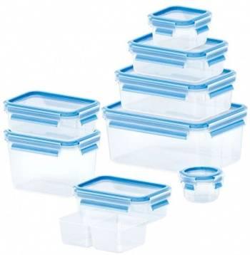 Набор контейнеров Emsa 515481 синий/прозрачный наб.:9пред. (3100515481)