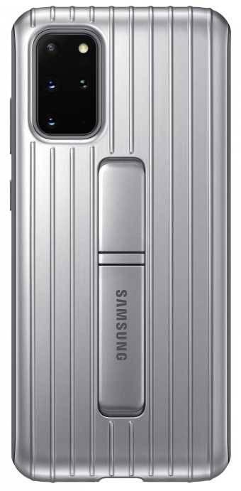 Чехол Samsung Protective Standing Cover, для Samsung Galaxy S20+, серебристый (EF-RG985CSEGRU) - фото 1