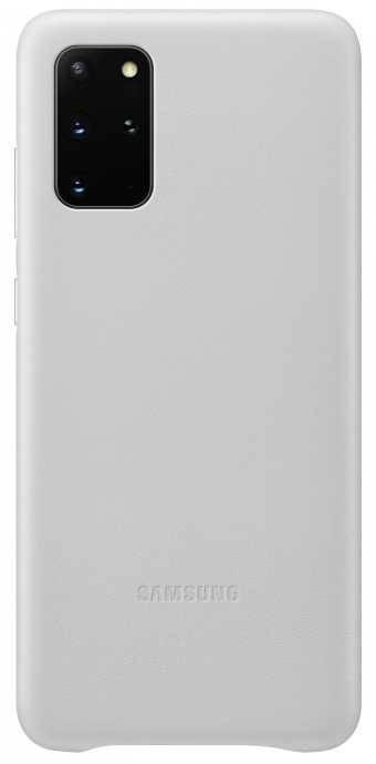 Чехол Samsung Leather Cover, для Samsung Galaxy S20+, серебристый (EF-VG985LSEGRU) - фото 1