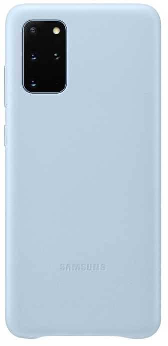 Чехол Samsung Leather Cover, для Samsung Galaxy S20+, голубой (EF-VG985LLEGRU) - фото 1