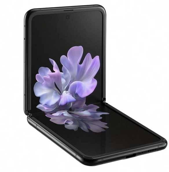 Смартфон Samsung Galaxy Z Flip SM-F700F 256ГБ черный (SM-F700FZKDSER) - фото 1