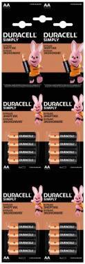 Батарея AA Duracell Simply LR6-4BL MN1500, в комплекте 16шт.