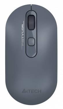 Мышь A4Tech Fstyler FG20 пепельный/синий (fg20 ash blue)